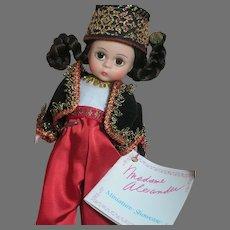 "Madame Alexander  Doll  Algeria   Original Tagged Outfit  Miniature Showcase   MIB 8"""