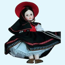 "Madame Alexander Doll Peru   From Miniature Showcase  Mint in box   8"""