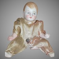 Antique German All  Bisque Doll  Limbach Jointed  Baby