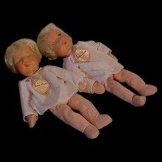 Kathe Kruse Asleep And Awake Babies