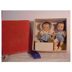 Mint In Box Pair Of Effanbee Babyette Dolls