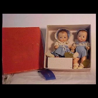 Mint In Box Pair Of Effanbee Babyette Dolls