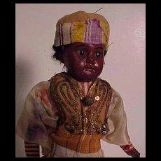 Completely Original German Bisque Gentleman Dressed To Represent Egypt