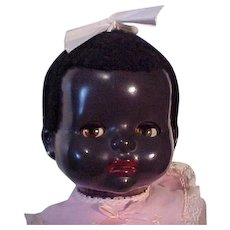 Hard Plastic Toddler Of Color Marked Pedigree, Made In England
