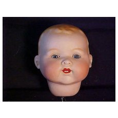 Very Large Life - Size Bisque Baby Head