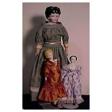 Three German China Head Dolls