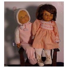 Two Wooden Dolls By June Beckett