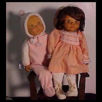 Two Wooden Dolls By June Beckett