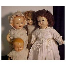 Four American Composition Mama Dolls