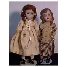 Two Petite German Dolls: One by Eichhorn And One By Recknagel