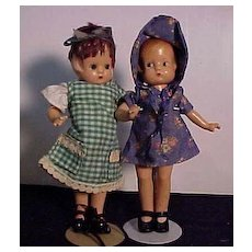 Pair Of Effanbee Patsyette Dolls