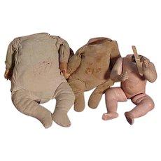 Three Antique Baby Bodies