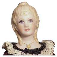 Beautiful Artist Miniature Lady With Elaborate Molded Hairstyle
