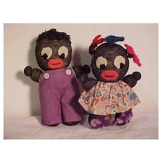 Two Character Dolls Of Color From Kimport Dolls Circa 1930's