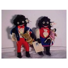 Set Of Limited Edition Steiff Golliwogs With Accessories