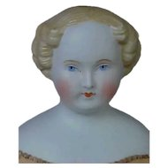 German Parian Lady With Very Delicate Painting