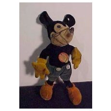 "Steiff Vintage Mickey Mouse In 6 1/2"" Size"