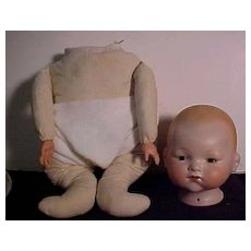 Very Large German Baby With Closed Mouth