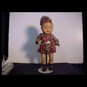 Composition Doll By RELIABLE In Original Costume