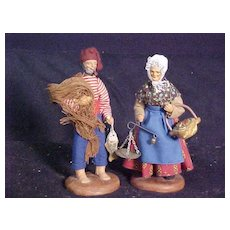 French Santon figures by Marius Chave Aubagne