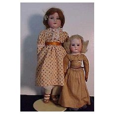 Pair of German Bisque Shoulder Head Play Dolls In Good Condition