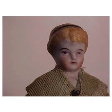 German Doll House Doll With Molded Hair And Hair Band
