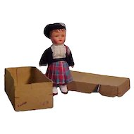 Mechanical Papier Mache Regional Character In Original Box