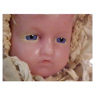 "20"" Poured Wax Infant In Original Costume By Pierotti"