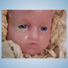 """20"""" Poured Wax Infant In Original Costume By Pierotti"""