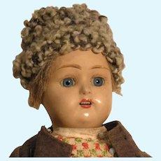 Unusual Russian Male Doll With terracotta Head