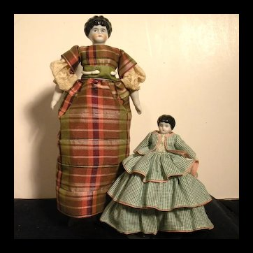 Pair Of German China Dolls In Perfect Condition