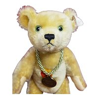Adorable Green Eyed Steiff Anno Teddy Bear Toy Store Exclusive White Tag Germany