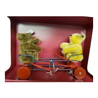 Steiff WIGWAG SEESAW Pull Toy with Two Teddy Bears Ltd Ed