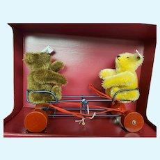 Steiff WIGWAG SEESAW Pull Toy with Two Teddy Bears Ltd Ed