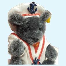 Tiny Grey Sailor Teddy Bear from Steiff Made in Germany