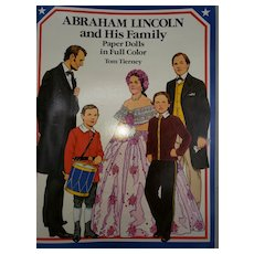 Paper Dolls by Tom Tierney Presidential Family Abraham Lincoln
