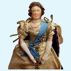 Liberty of London Queen Mother ? in Coronation Robes