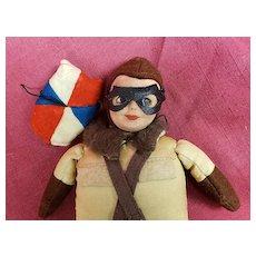 "Adorable 7"" Norah Wellings Royal Air Force Comfort Fund Parachute Airplane Pilot Jumper"