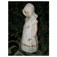 "Adorable Victorian Bisque Figurine of 6 1/2"" Little Girl"