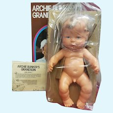 Vintage 1976 Ideal ARCHIE BUNKER'S Grandson Joey Stivic Baby Doll Sexed Boy