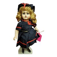 """Cute 9"""" All Bisque Reproduction dressed in Period Swimsuit - Adorable!!"""