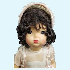 """Gorgeous Vintage 1950's 16"""" Brunette Terri Lee Doll in Easter Outfit"""