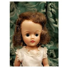 Vintage Vogue Brunette Jill Doll in Square Dance Dress