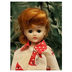 Vintage Vogue Redhead Ponytail Jill Doll in House Coat Set