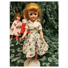 Vintage Vogue Blonde Ponytail Jill Doll in Two Piece Skirt Set