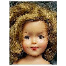 "Vintage Ideal 1957 12"" Shirley Temple Doll Nude"