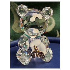 Swarovski Mini Crystal Teddy Bear with Honey Pot & Box