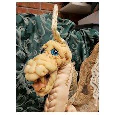 "Interesting Artist Created Soft Sculpture 17"" Lady Dragon"
