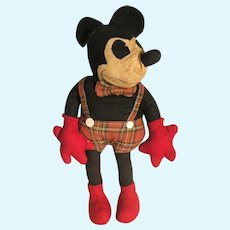 Nineteen Thirties Cloth Mickey Mouse
