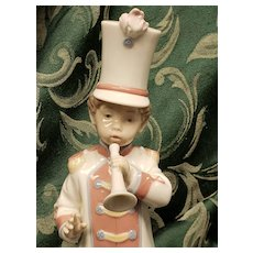 Lladro China : Boy Trumpet Player # 6305 Made in Spain